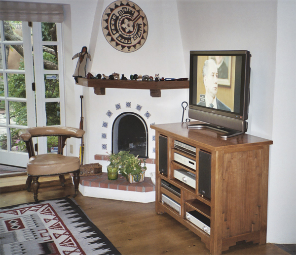 Ingalls Installed Entertainment Center front and side view