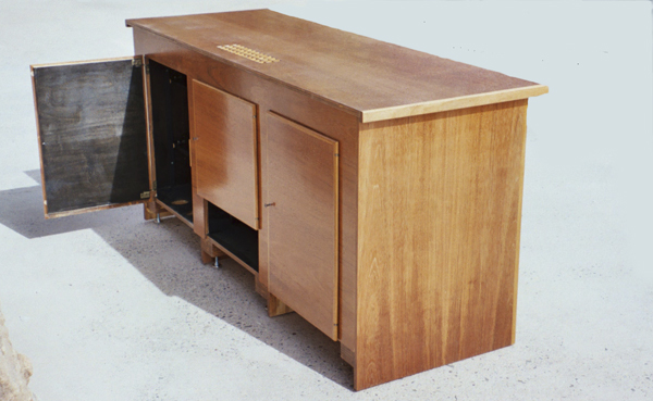 Rosenburg TV Stand Back Doors Side View and Ventilation