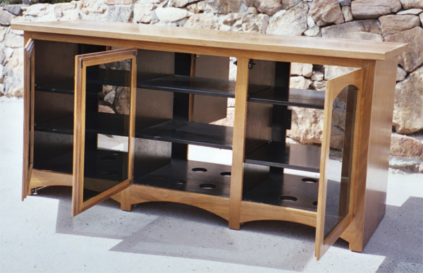 Rosenberg TV Stand Doors Open Front View