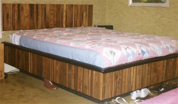 Custom walnut king size waterbed