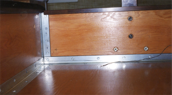 Waterbed frame detail